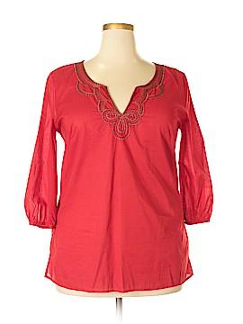 New York & Company 3/4 Sleeve Top Size XL