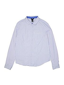 H&M Long Sleeve Button-Down Shirt Size 8