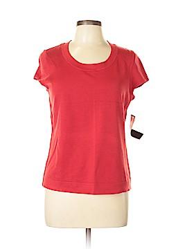 Jones New York Collection Short Sleeve Silk Top Size L