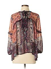 Knox Rose Women Long Sleeve Blouse Size L