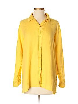 Eileen Fisher Long Sleeve Button-Down Shirt Size S