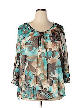 Laura Ashley 3/4 Sleeve Blouse Size 2X (Plus)