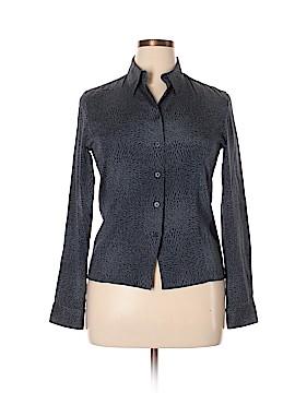 Anne Klein Long Sleeve Silk Top Size 10