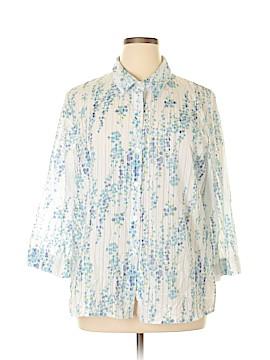 Sag Harbor 3/4 Sleeve Button-Down Shirt Size XL