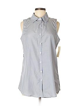 Active USA Collection Sleeveless Button-Down Shirt Size M