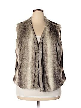 Lands' End Faux Fur Vest Size 2X (Plus)
