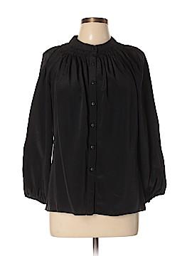 Jigsaw Long Sleeve Silk Top Size L