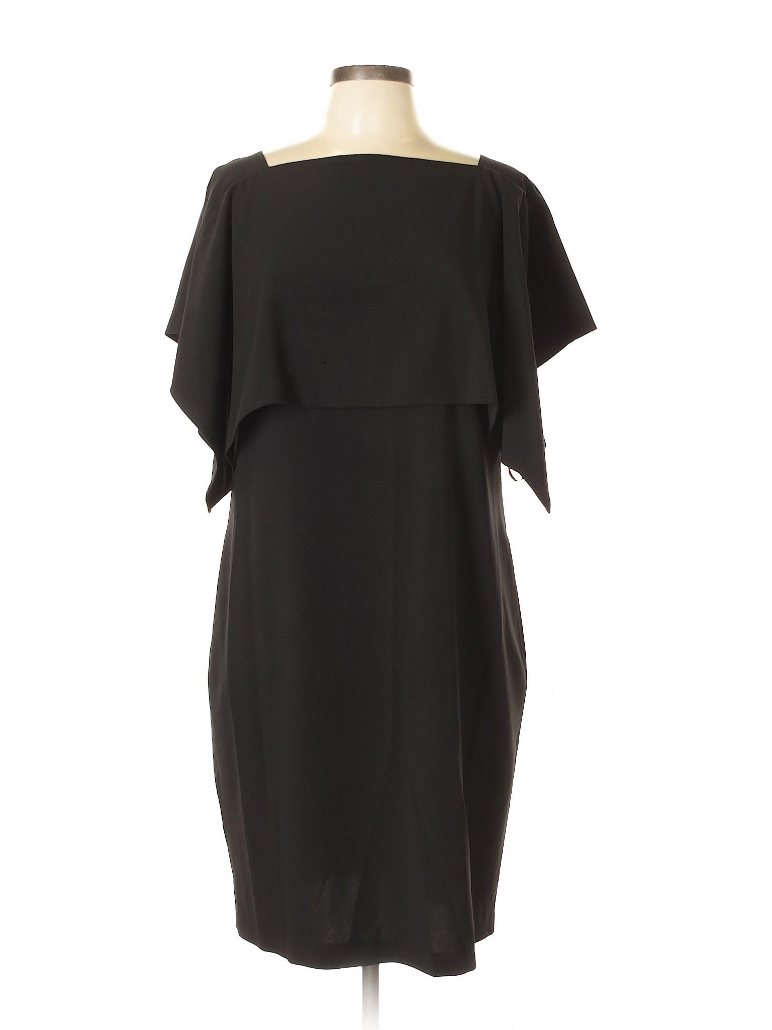 Calvin Klein Solid Black Cocktail Dress Size 12 - 72% off | thredUP