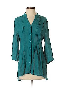 Spense 3/4 Sleeve Button-Down Shirt Size S