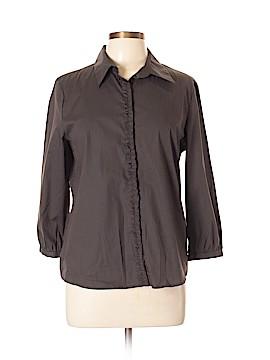 Tahari by ASL Long Sleeve Button-Down Shirt Size L