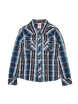 True Religion Long Sleeve Button-Down Shirt Size M (Kids)