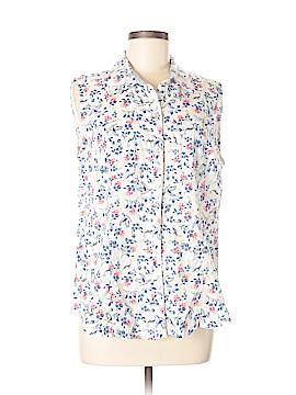Karen Scott Sleeveless Button-Down Shirt Size M