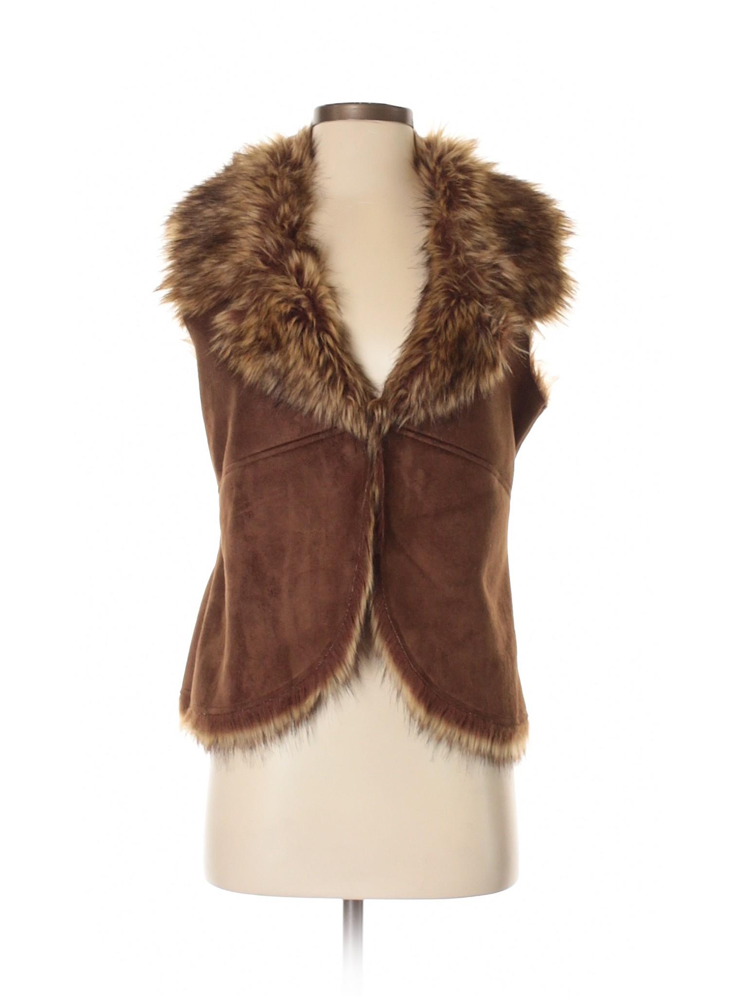 Fur winter Faux Boutique Vest Chico's YgTq4