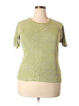 Linda Allard Ellen Tracy Short Sleeve Silk Top Size 1X (Plus)