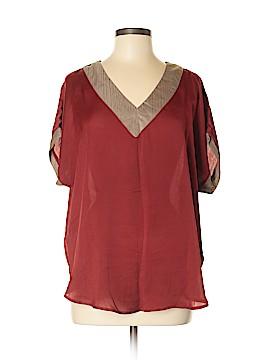 Melissa Paige Short Sleeve Blouse Size M