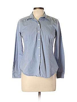 Ann Taylor LOFT Long Sleeve Button-Down Shirt Size 10 (Petite)