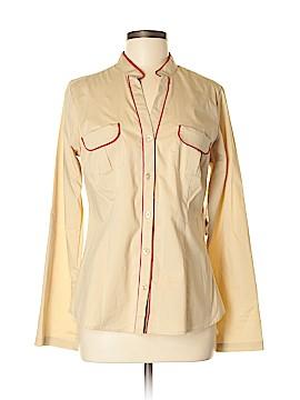 PASSPORTS Long Sleeve Button-Down Shirt Size M