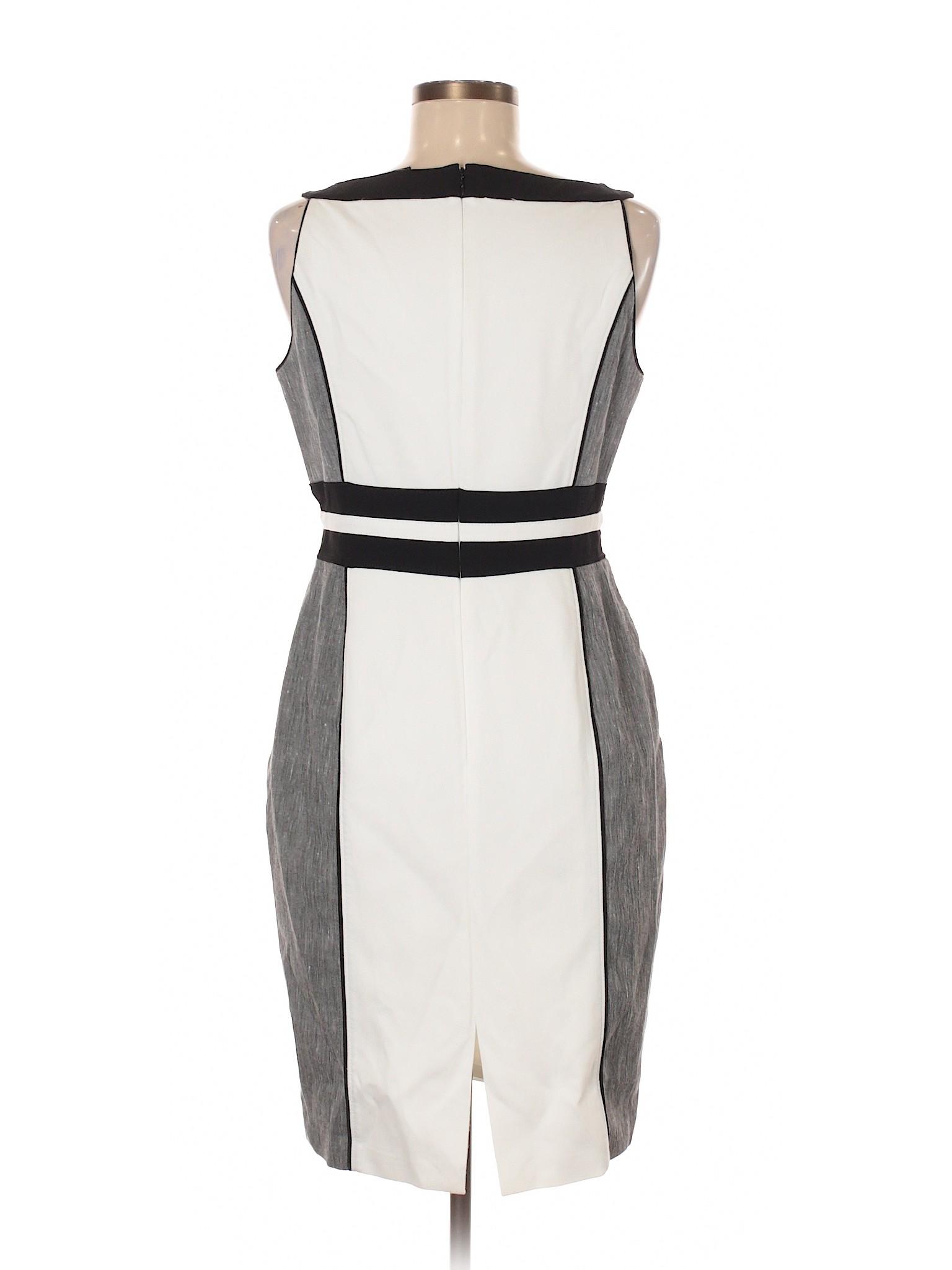 House Market Casual White Black Boutique winter Dress qBnSZpxPw