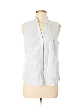 Ivanka Trump Sleeveless Button-Down Shirt Size M