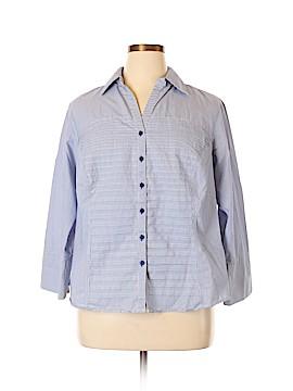Sharagano Long Sleeve Button-Down Shirt Size 2X (Plus)