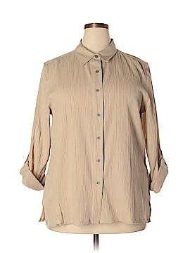 Appleseeds Long Sleeve Button-Down Shirt Size XL