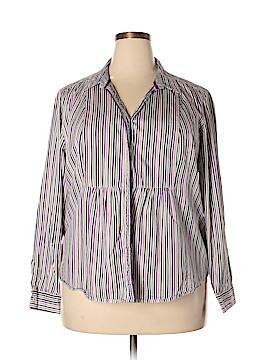 Liz Claiborne Long Sleeve Button-Down Shirt Size 2X (Plus)