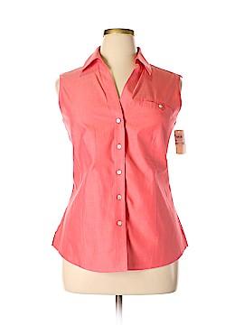Foxcroft Sleeveless Button-Down Shirt Size 16