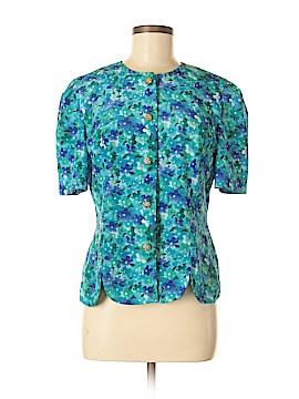Leslie Fay Short Sleeve Blouse Size 8
