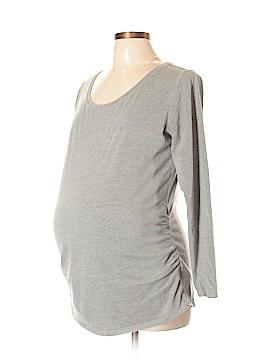 Bump Start by Motherhood Maternity Long Sleeve T-Shirt Size L (Maternity)