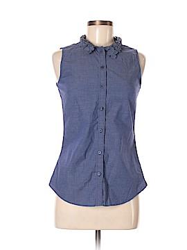 Banana Republic Factory Store Sleeveless Button-Down Shirt Size 2