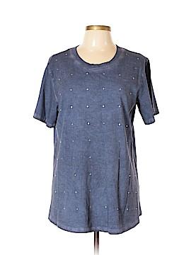 DG^2 by Diane Gilman Short Sleeve T-Shirt Size L