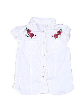 Guess Short Sleeve Button-Down Shirt Size 4
