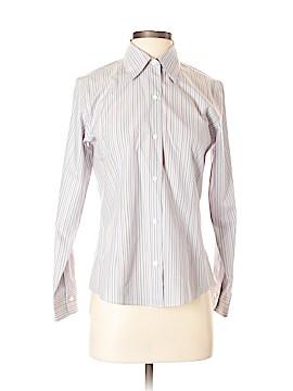 Petite Sophisticate Long Sleeve Button-Down Shirt Size S