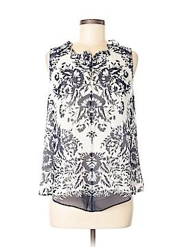 Ecru Sleeveless Silk Top Size M