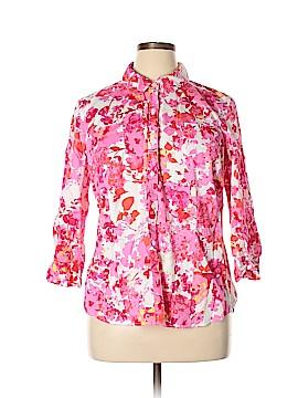 Van Heusen 3/4 Sleeve Button-Down Shirt Size XXL