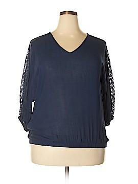 Shop The Trends 3/4 Sleeve Blouse Size 1X (Plus)