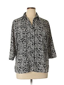 Croft & Barrow 3/4 Sleeve Blouse Size XL (Petite)