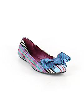 Coach Heart Poppy Flats Size 9