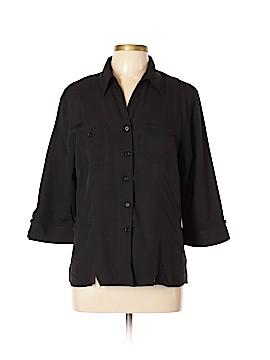 Joanna 3/4 Sleeve Button-Down Shirt Size L