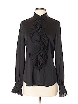 Lauren by Ralph Lauren Long Sleeve Silk Top Size S