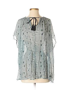 H&M L.O.G.G. Short Sleeve Silk Top Size M