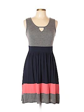Pink Rose Casual Dress Size L (Petite)