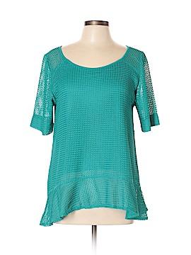 Skye's The Limit Short Sleeve Blouse Size L