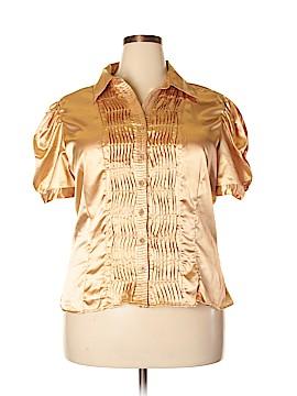 Caren Sport Short Sleeve Blouse Size 2X (Plus)