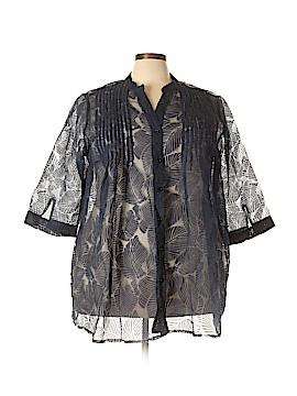 Denim 24/7 3/4 Sleeve Blouse Size 26W (Plus)