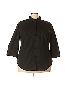 Worthington 3/4 Sleeve Button-Down Shirt Size 3X (Plus)