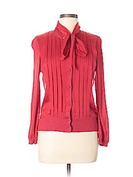 DKNYC Long Sleeve Silk Top Size M