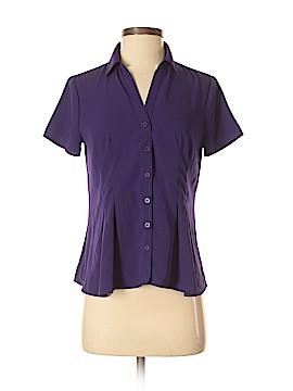 Dana Buchman Short Sleeve Blouse Size S (Petite)
