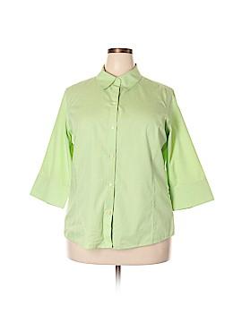 Liz Claiborne Long Sleeve Button-Down Shirt Size 16