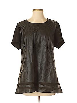 City Chic Faux Leather Top Size 12 Plus (XS) (Plus)